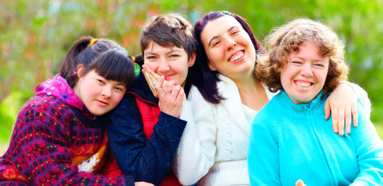 group of special women smiling